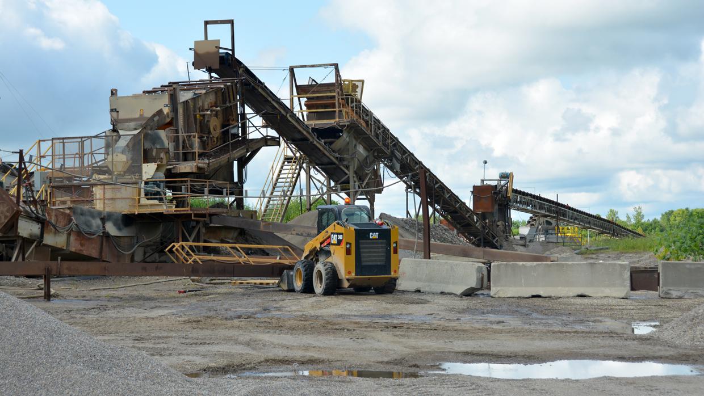 Crawfordsville sand and gravel plant
