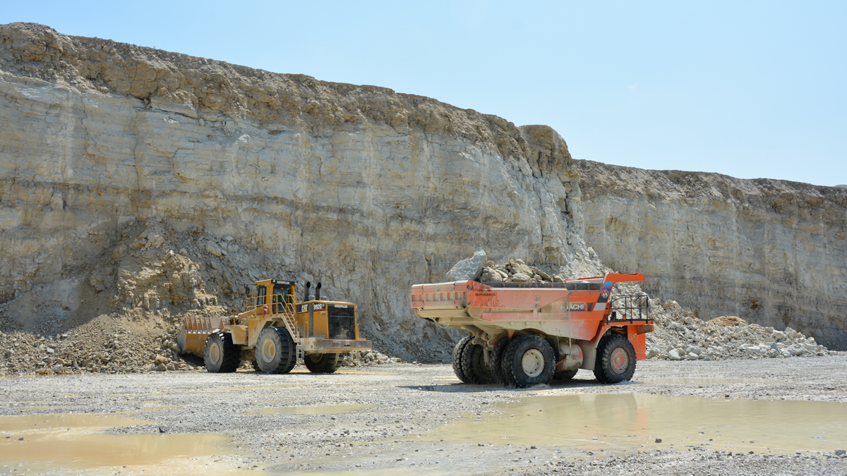 Equipment at Delphi Quarry