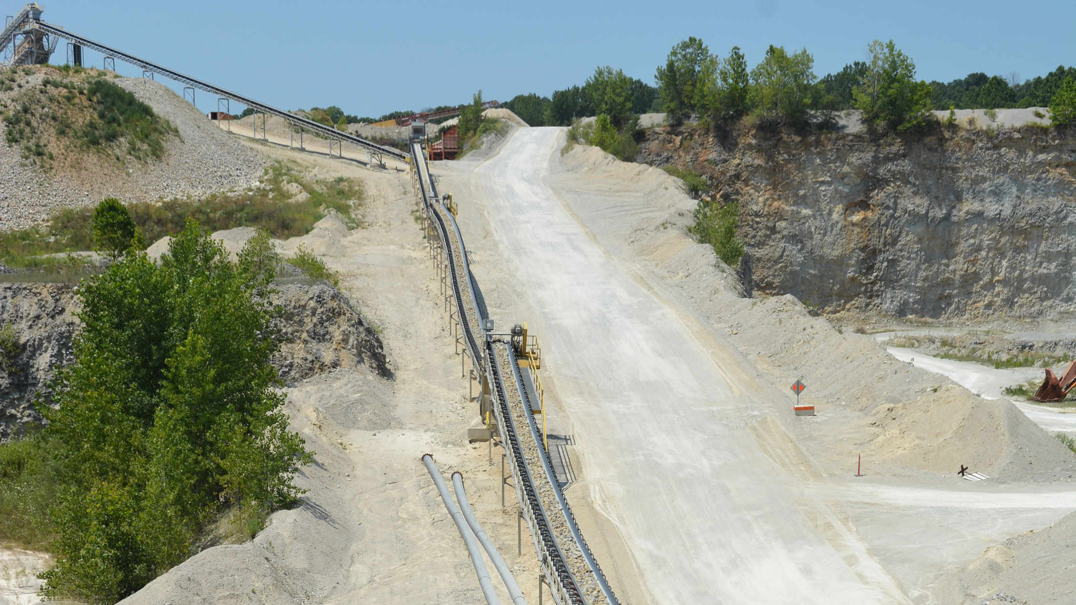 Conveyors at Delphi quarry