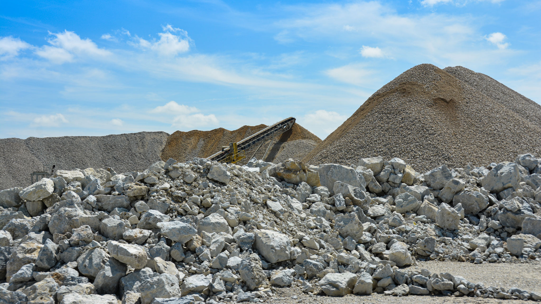 Delphi Quarry stockpile