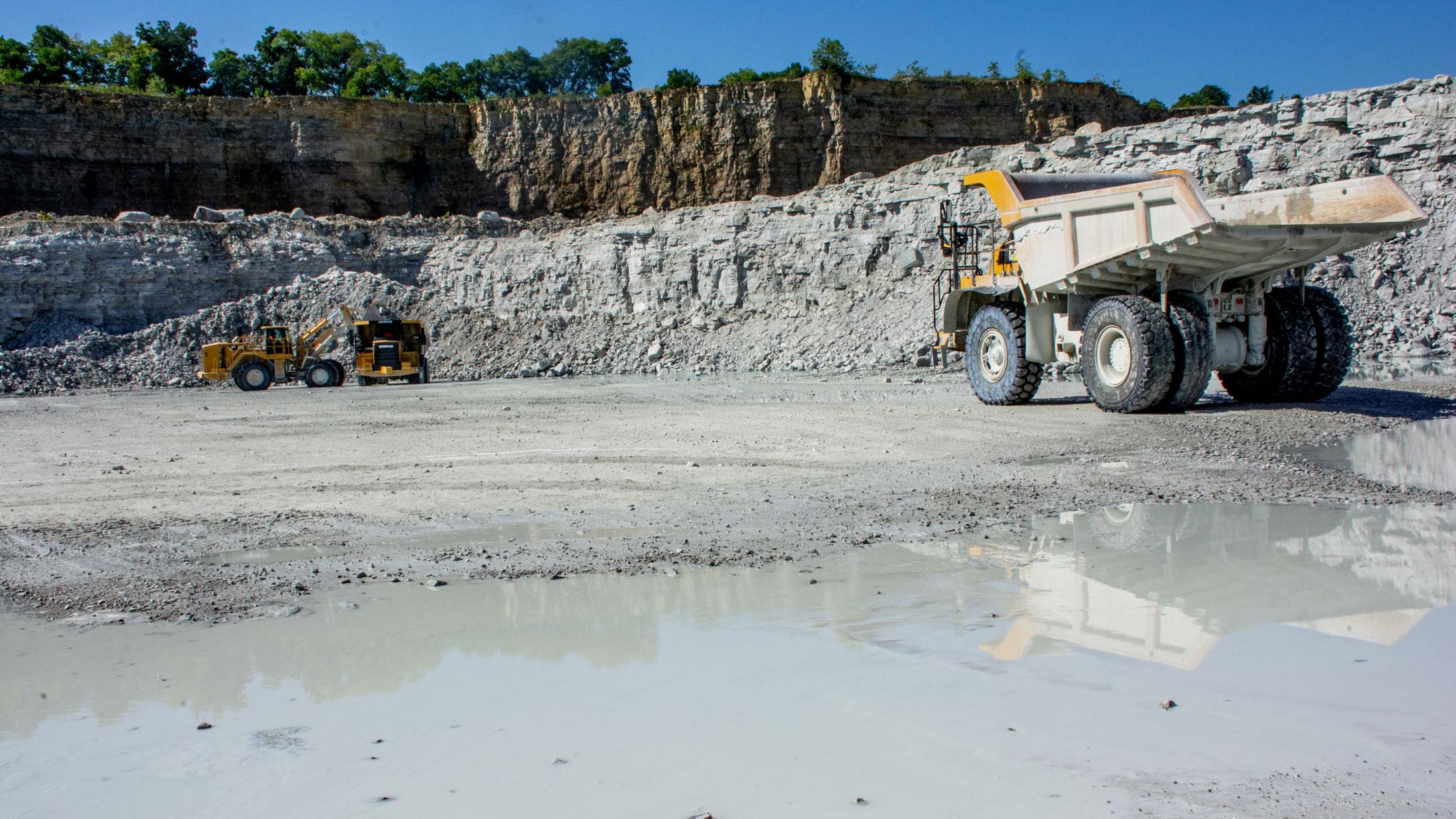 equipment at Flat Rock quarry