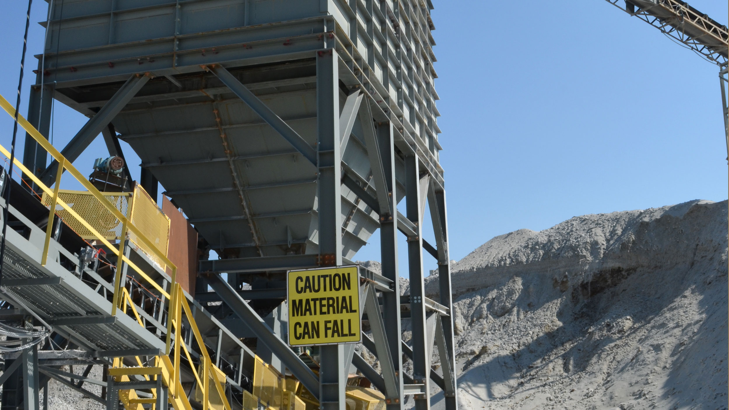 Bin at the Francesville quarry