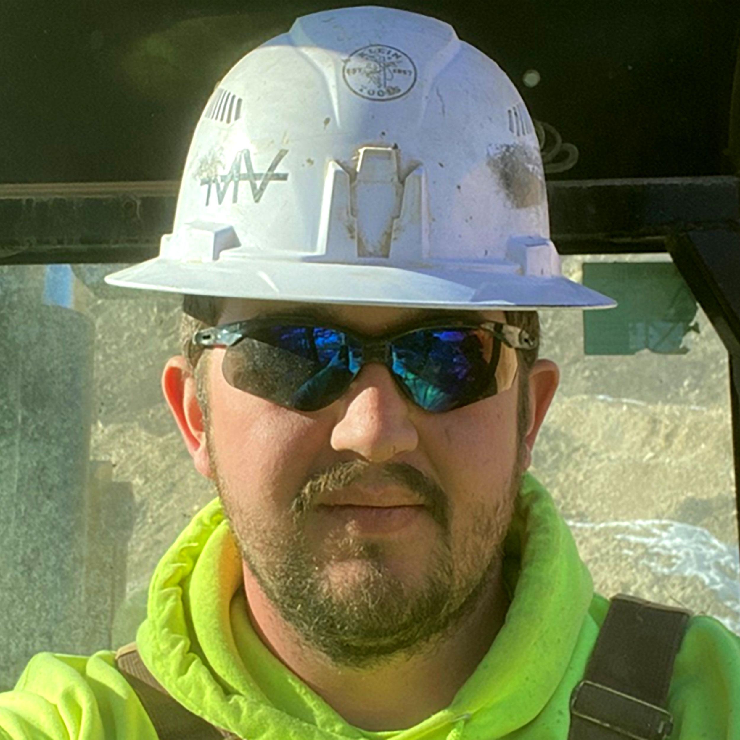 photo os Jevon Sturgeon the equipment operator