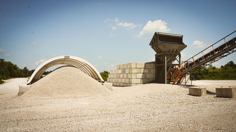 Cloverdale midwest calcium carbonates, fine grind pile