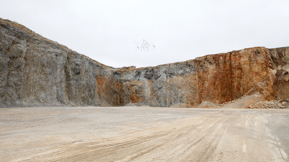 Photo of the Monon stone quarry