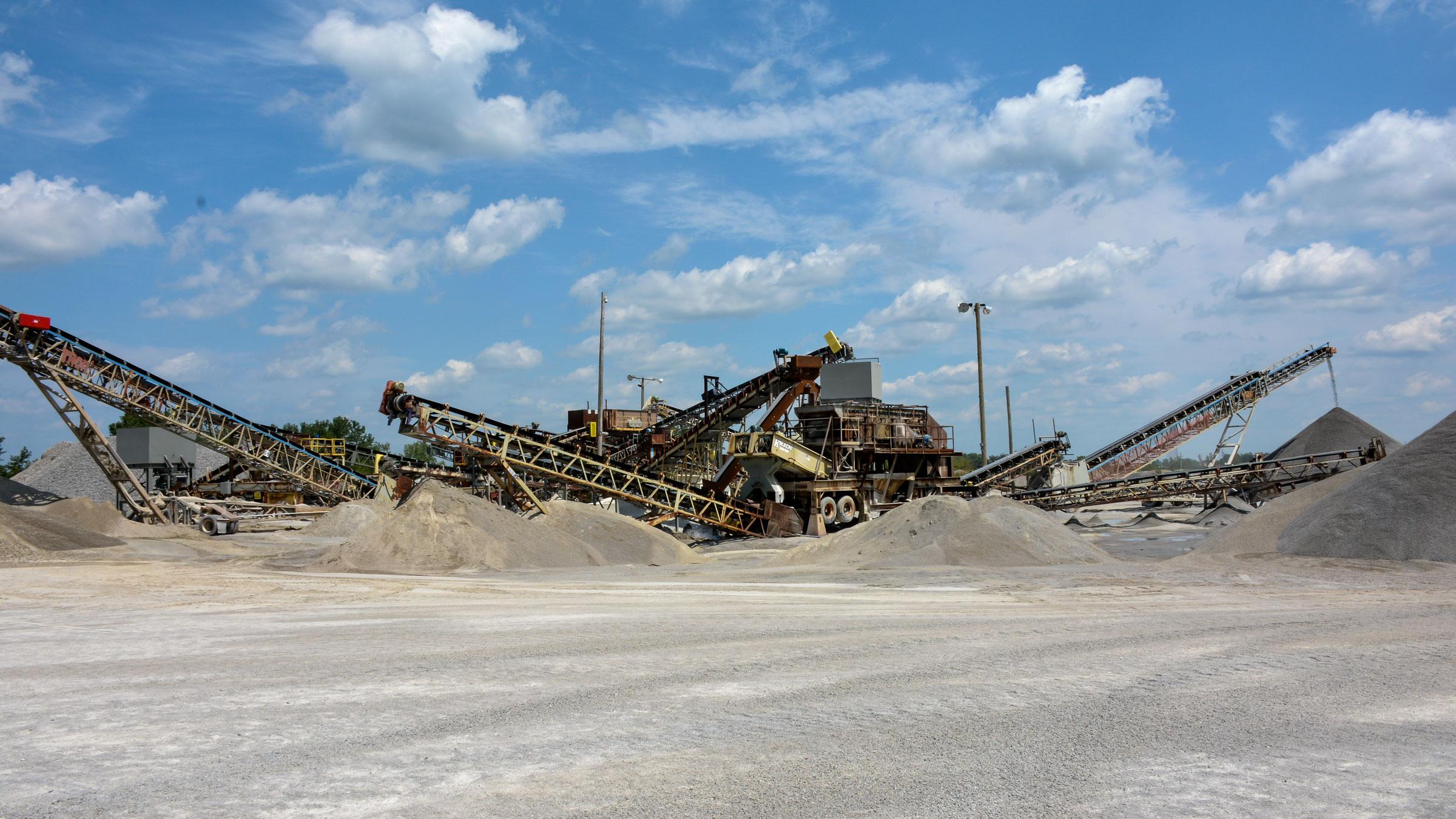 Photo showing the Monon Quarry