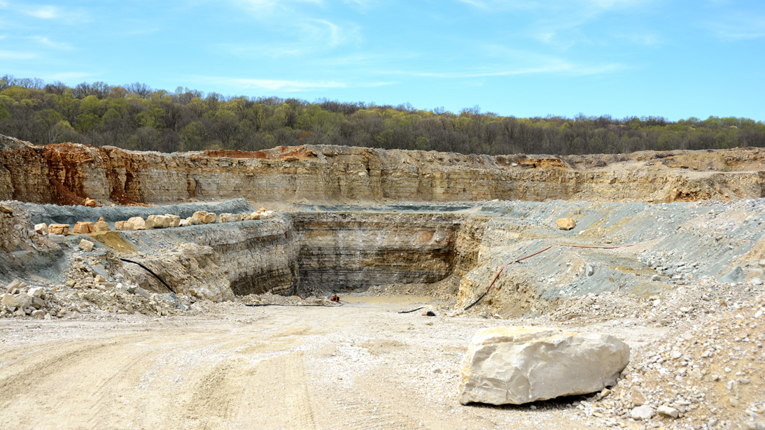 shows what the springville quarry looks like
