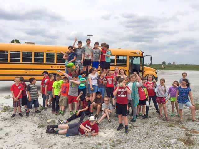 Francesville school visits quarry