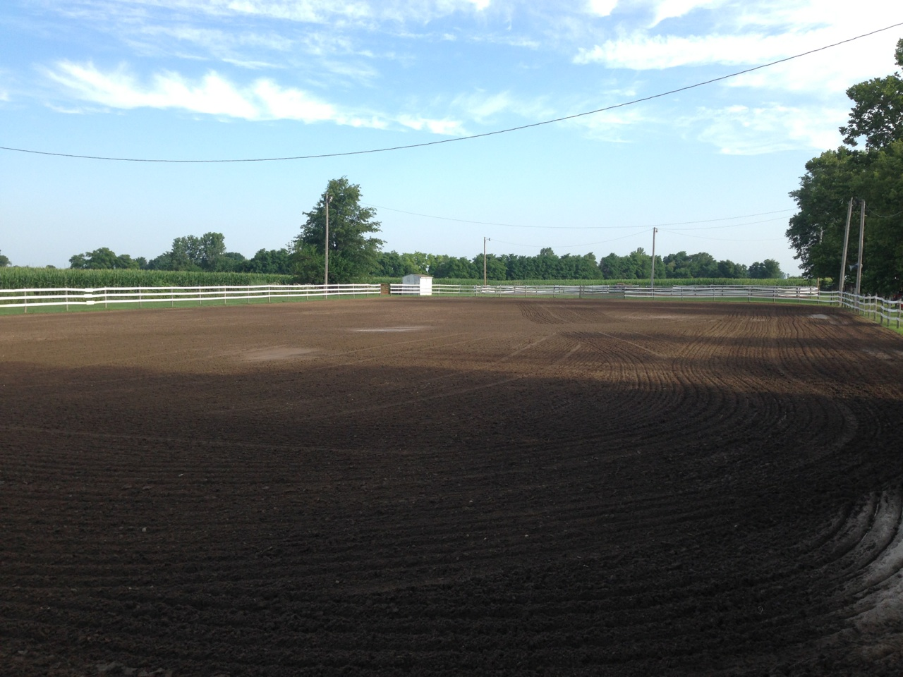 donation of sand to fountain county 4h