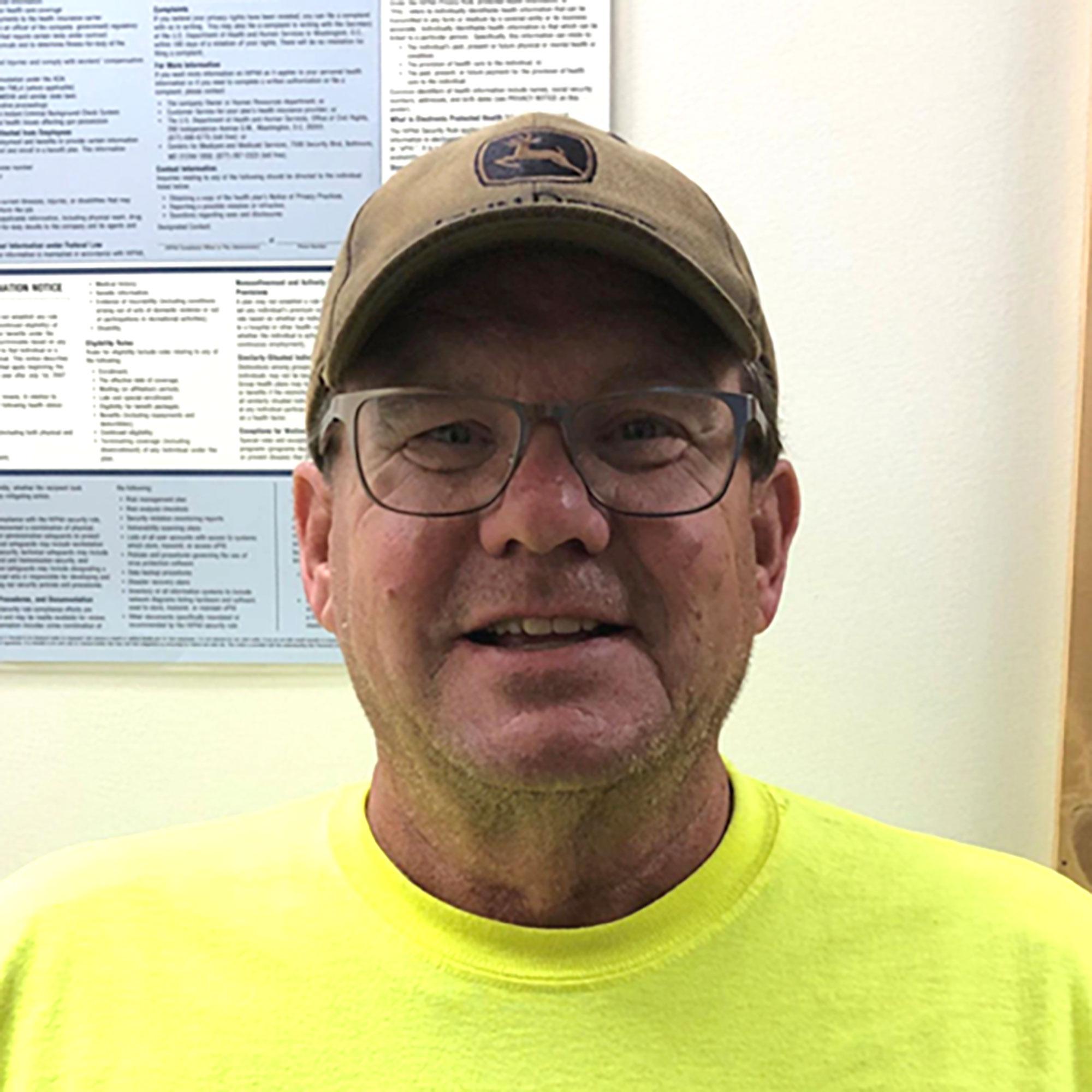 Photo of Bill Wallace an equipment operator/laborer
