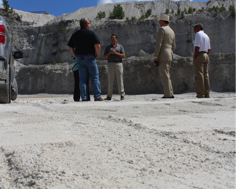 photo of congresswoman walorski visiting a quarry