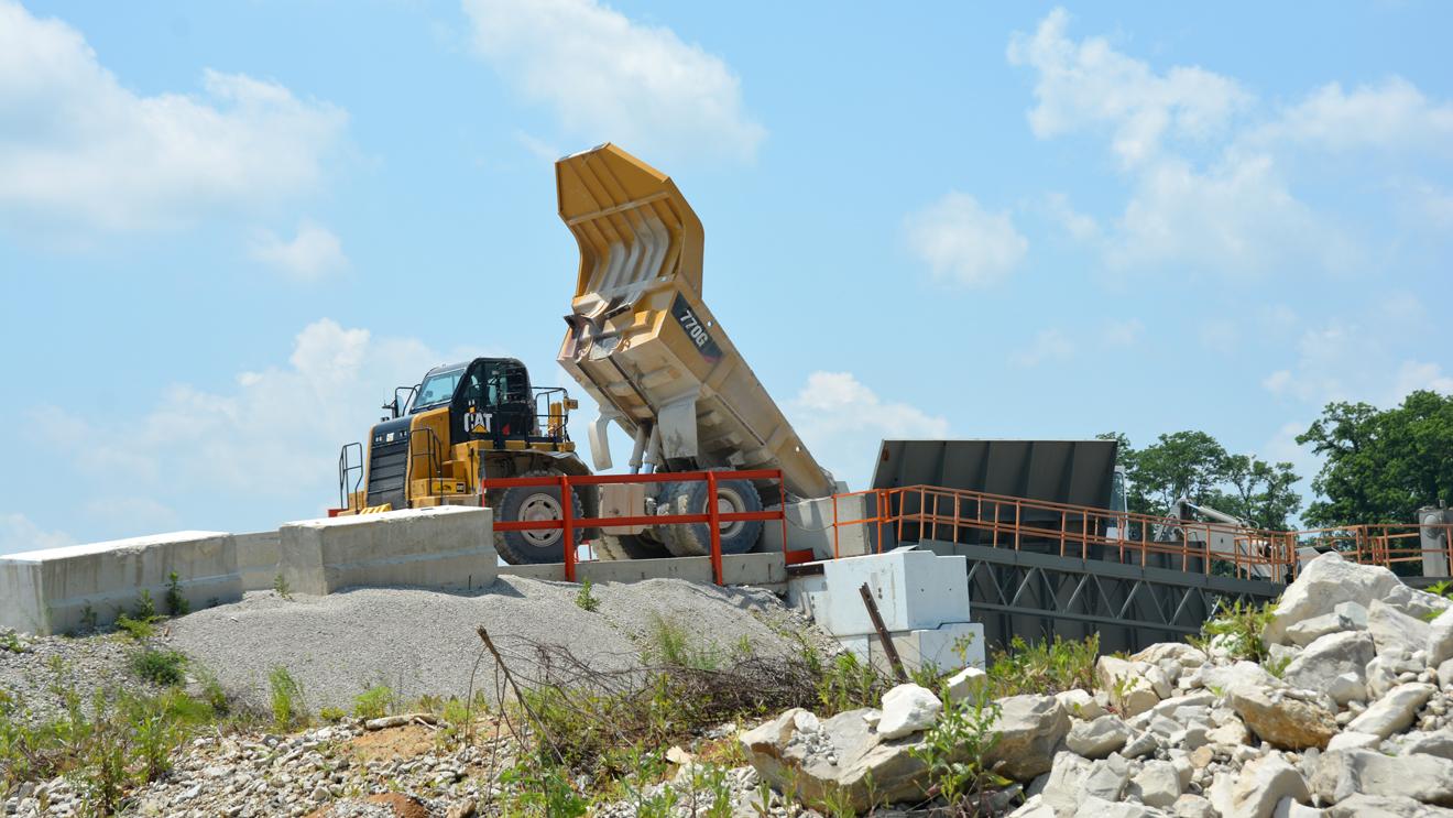 Equipment at Deer Creek Quarry
