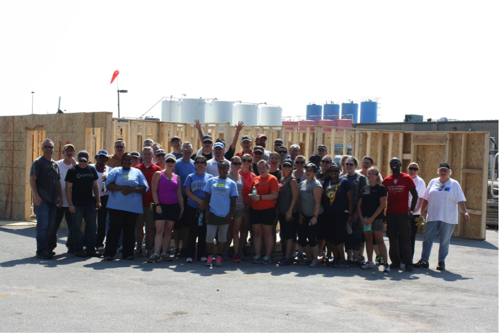habitat for humanity pannel build group photo