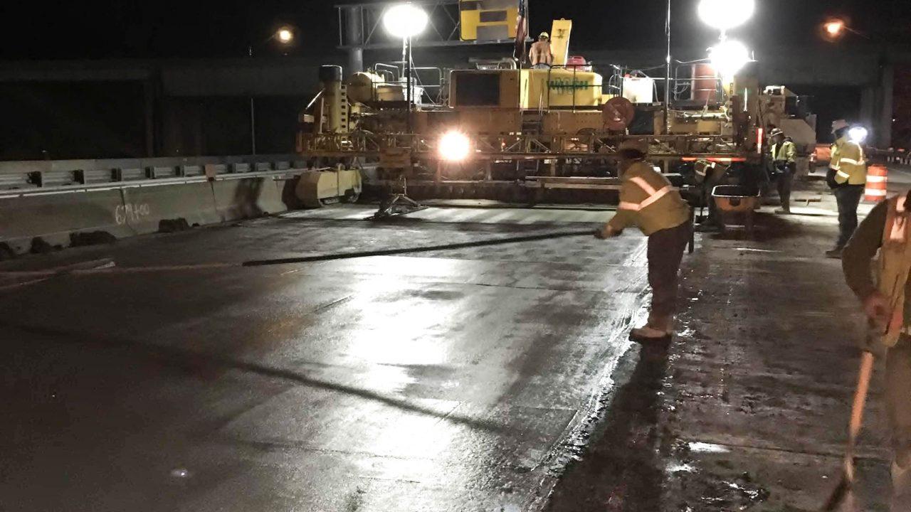 road work at night