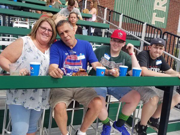 Family at TinCaps game