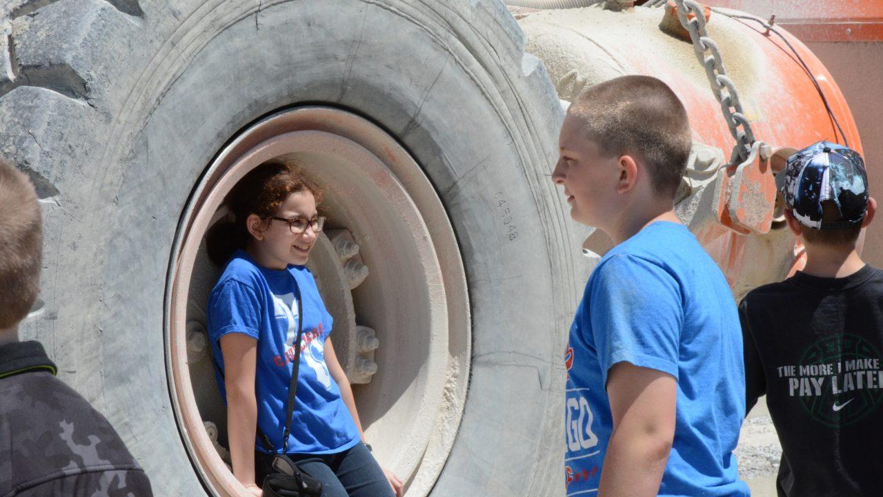 delphi school visit in wheel well
