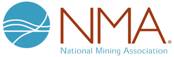 Photo is clickable and creates a button to take you to the National Mining Association website